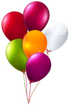 Balloons Bunch PNG Black And White - 166159