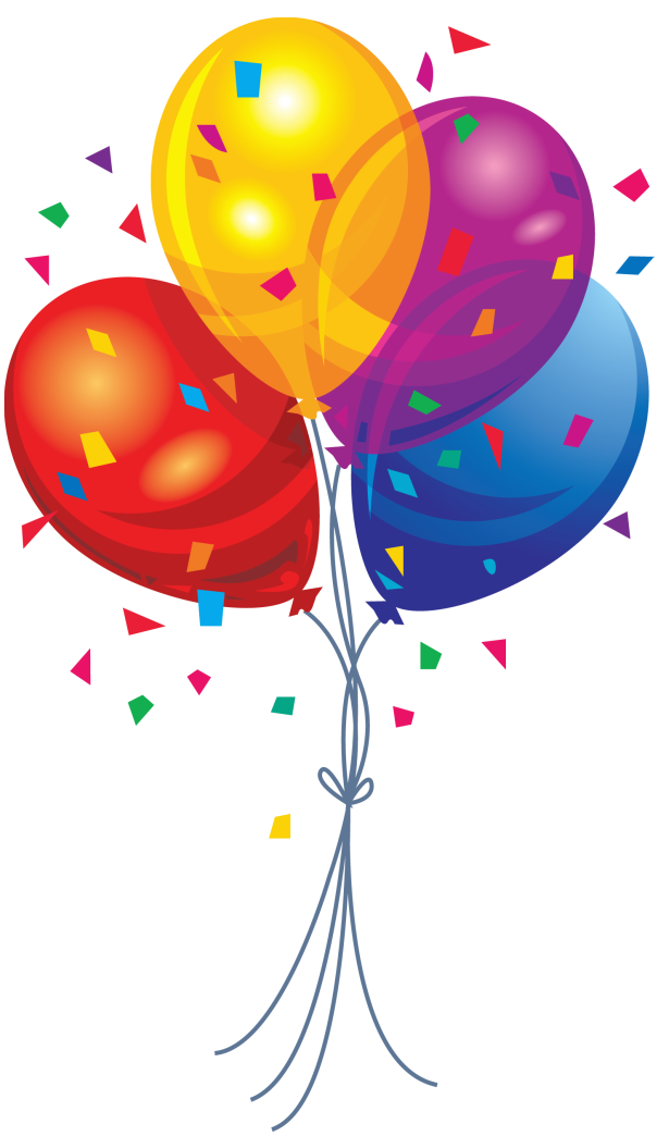 Balloons Bunch PNG Black And White - 166168