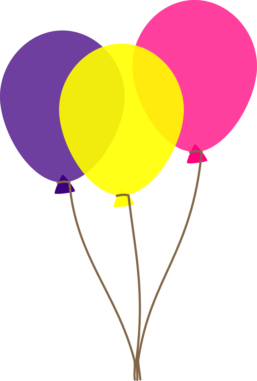 Balloons Bunch PNG Black And White - 166166