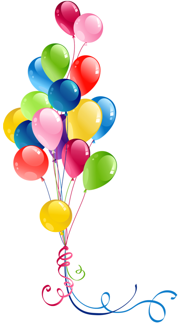 Balloons Bunch PNG Black And White - 166160