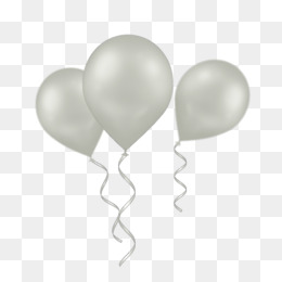 Balloons Bunch PNG Black And White - 166156