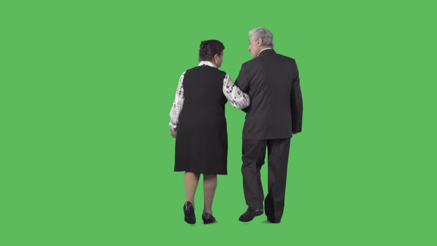 An elderly couple are walking from the camera under the handle. Camera is  static. - Ballroom Dancing PNG HD