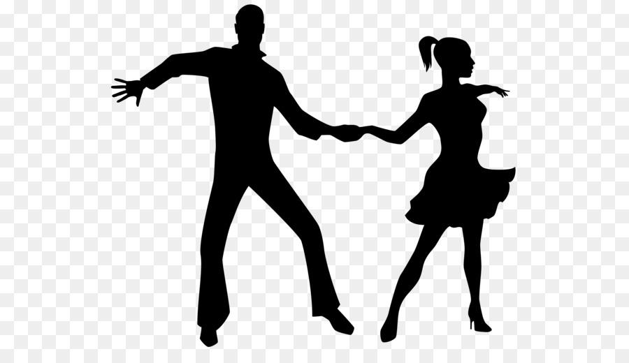 Ballroom dance Silhouette - peony flower - Ballroom Dancing PNG HD