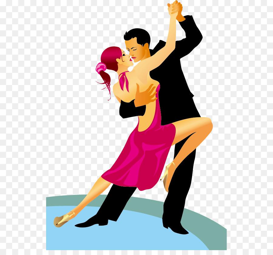 Dancesport Ballroom dance Royalty-free - Men and women dancing vector  material, - Ballroom Dancing PNG HD