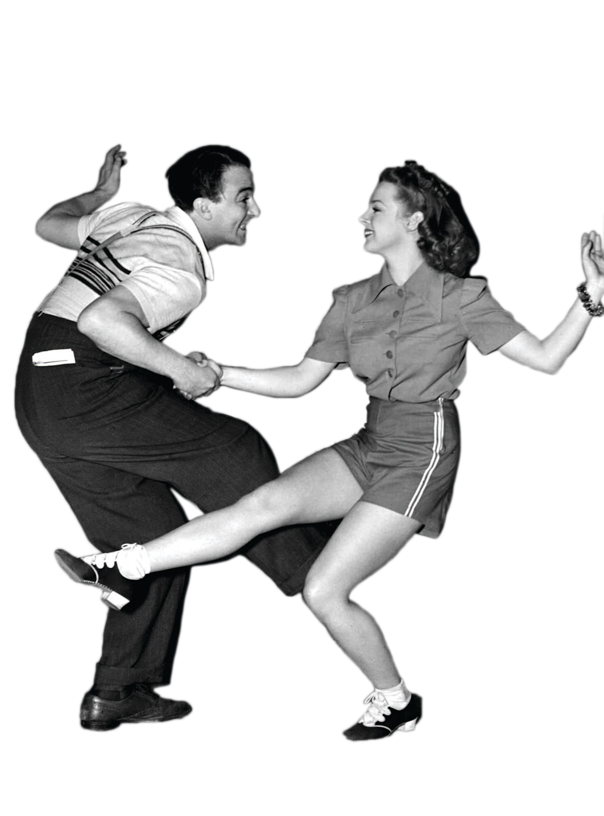 Dancing Couple HD PNG Transparent Pinup boogie swing mambo black and white - Ballroom Dancing PNG HD