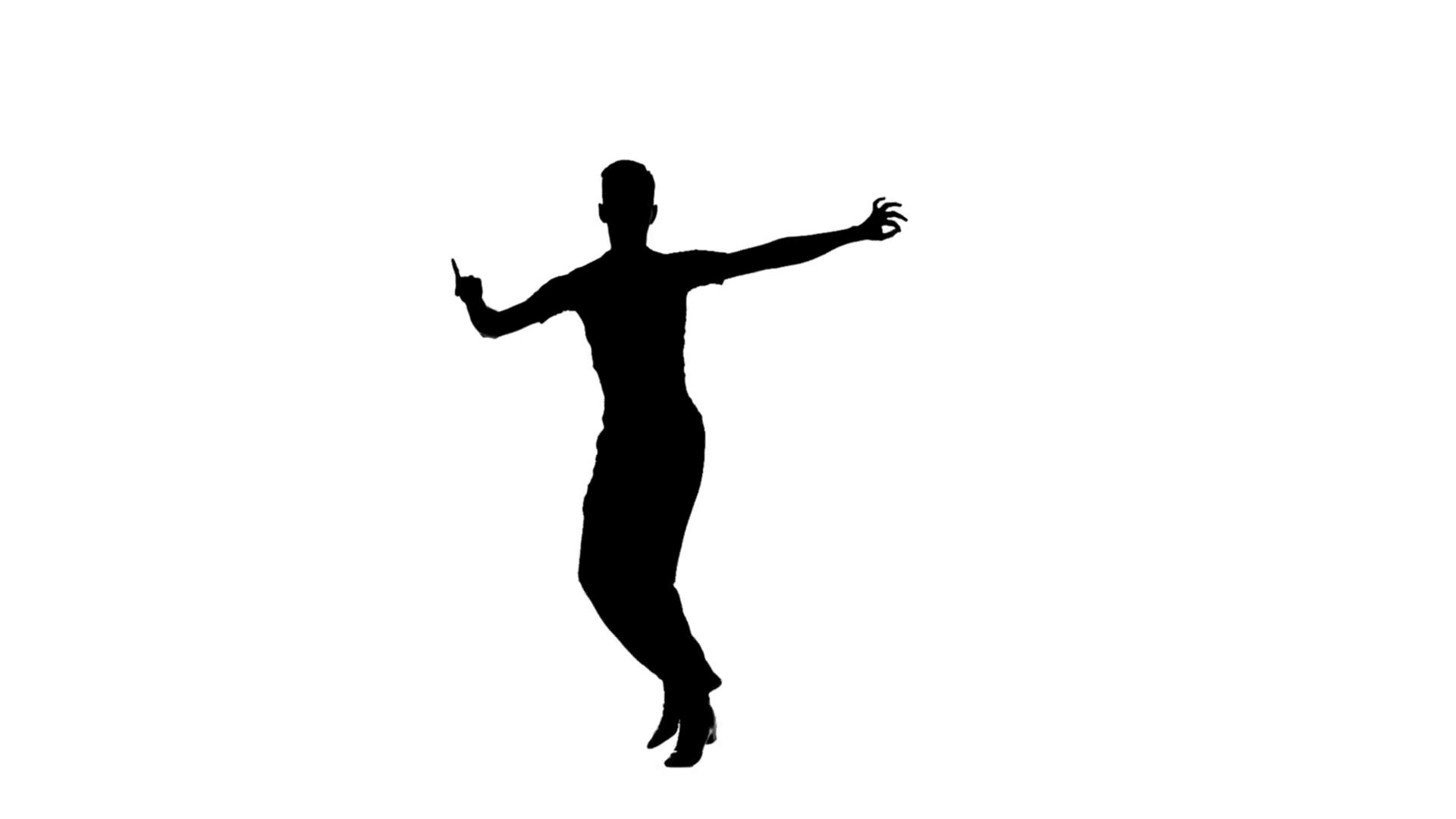 Man solo dancing elements of ballroom dancing. Silhouette, slow motion  Stock Video Footage - VideoBlocks - Ballroom Dancing PNG HD
