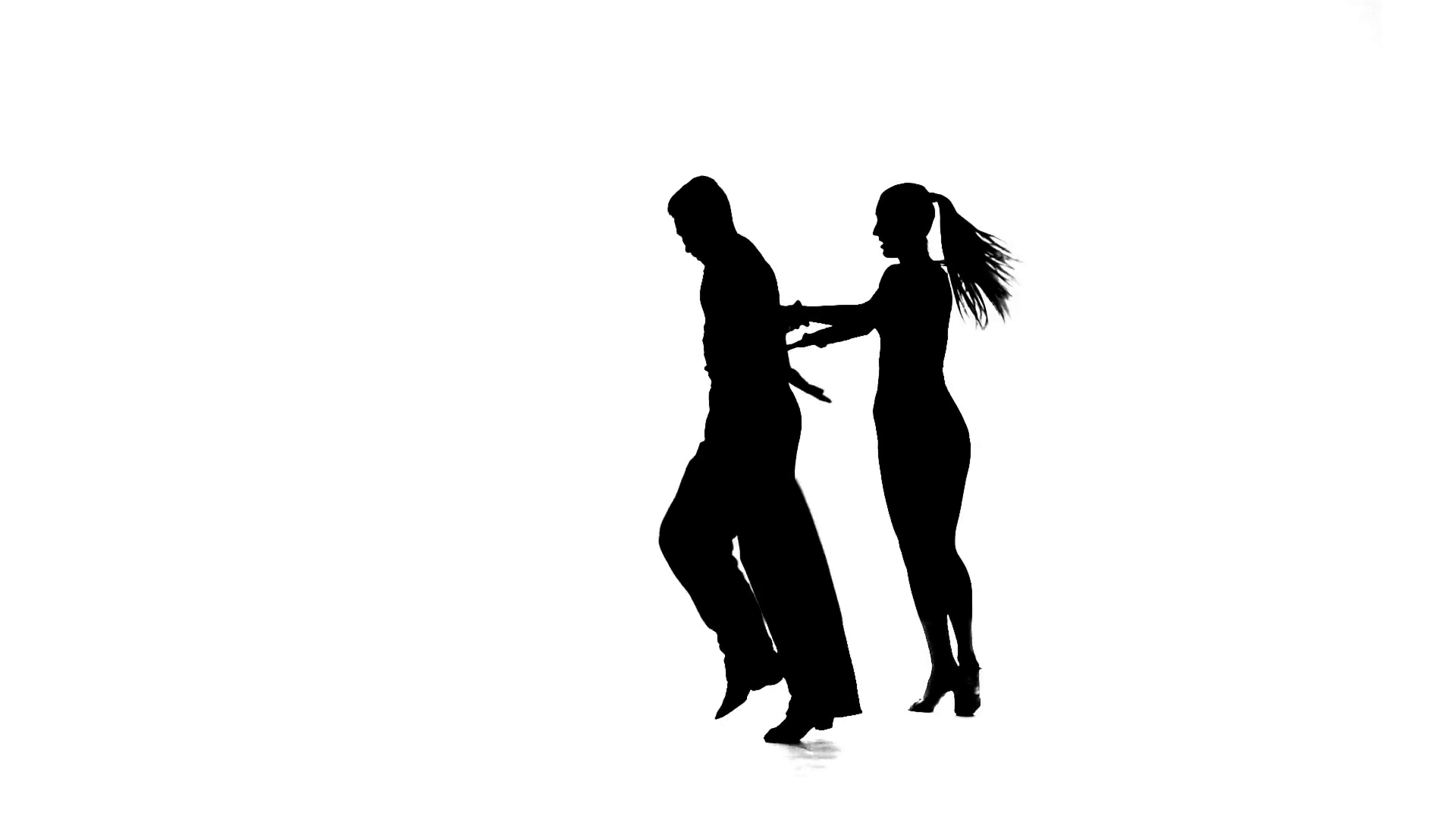 Silhouette couple dancers perform ballroom dance, white background, slow  motion Stock Video Footage - VideoBlocks - Ballroom Dancing PNG HD