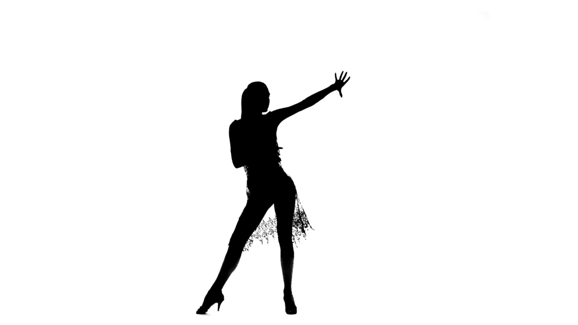Solo girl dancing elements of ballroom dancing. Silhouette, slow motion  Stock Video Footage - VideoBlocks - Ballroom Dancing PNG HD