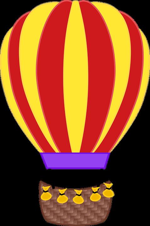 Balon, Balon Udara Panas, Terbang, Keranjang, Mengapung - Balon Udara PNG