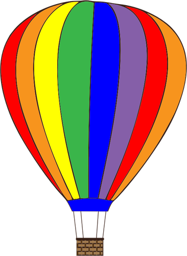 Balon udara berwarna - Balon Udara PNG