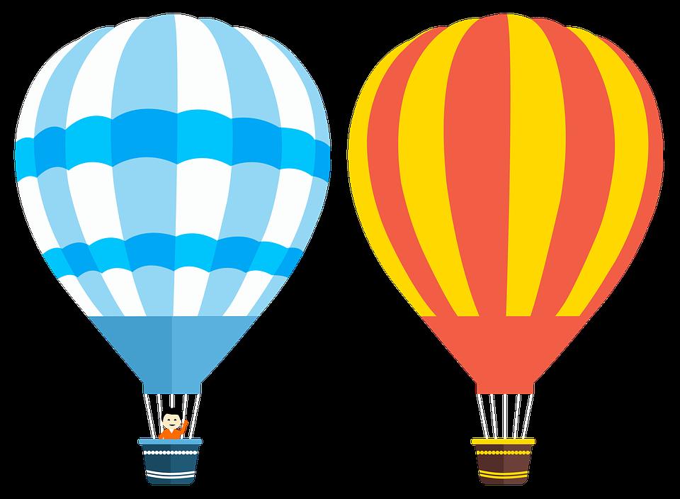 Balon Udara Panas, Balon, Balon Vektor, Penerbangan - Balon Udara PNG