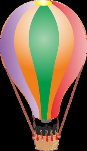 Balon udara panas dengan orang-orang - Balon Udara PNG