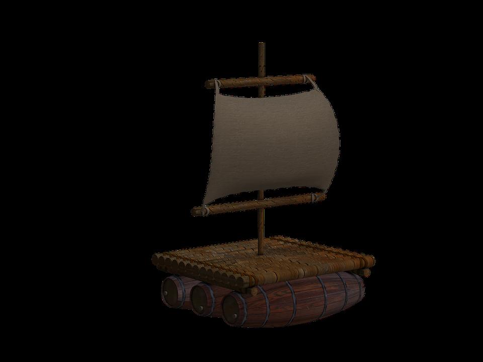 de arranque balsa balsa de madera vela aislado - Balsa PNG