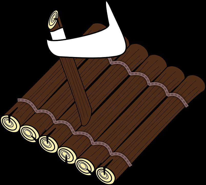troncos de árboles balsa madera flotador flotante - Balsa PNG