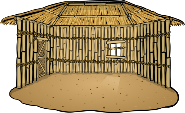 File:Bamboo Hut (in-game).png - Bamboo Hut PNG