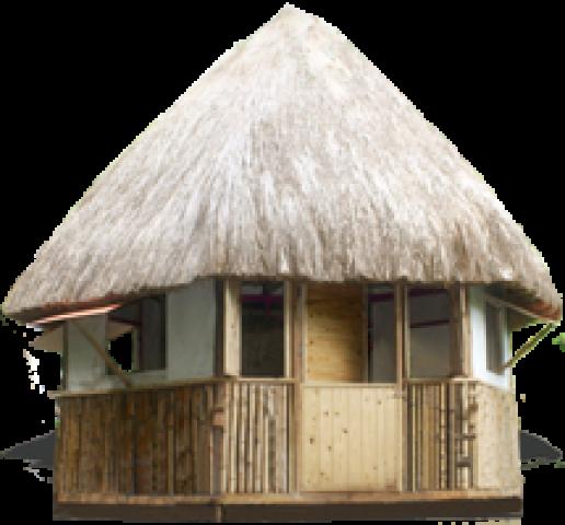 Grassy Bamboo Hut - Bamboo Hut PNG
