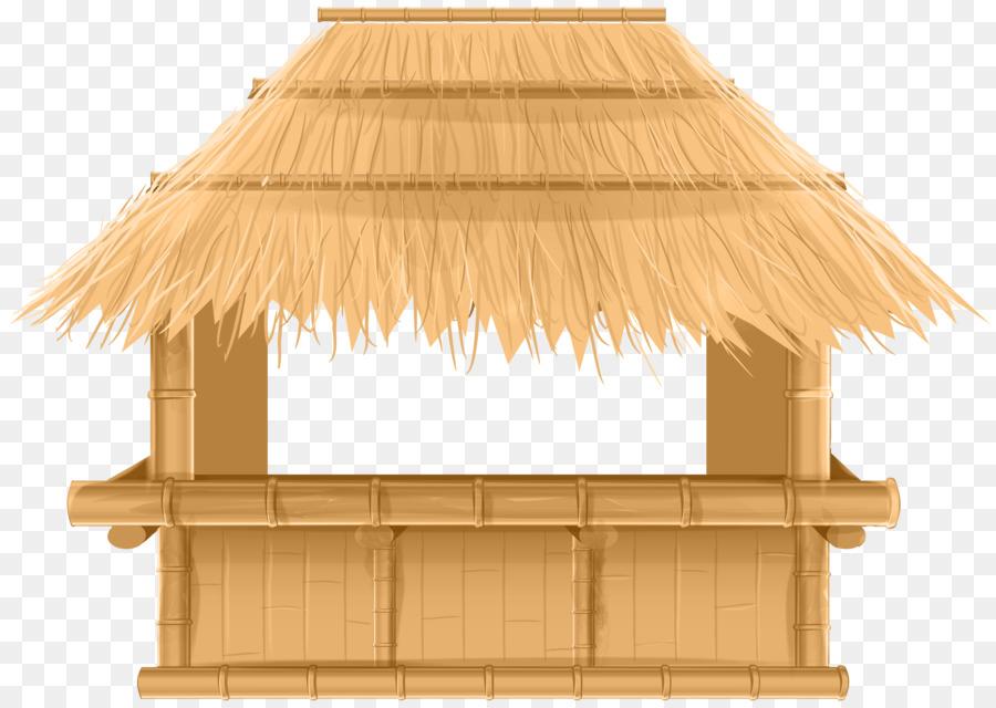 Tiki bar Beach Clip art - bamboo border - Bamboo Hut PNG