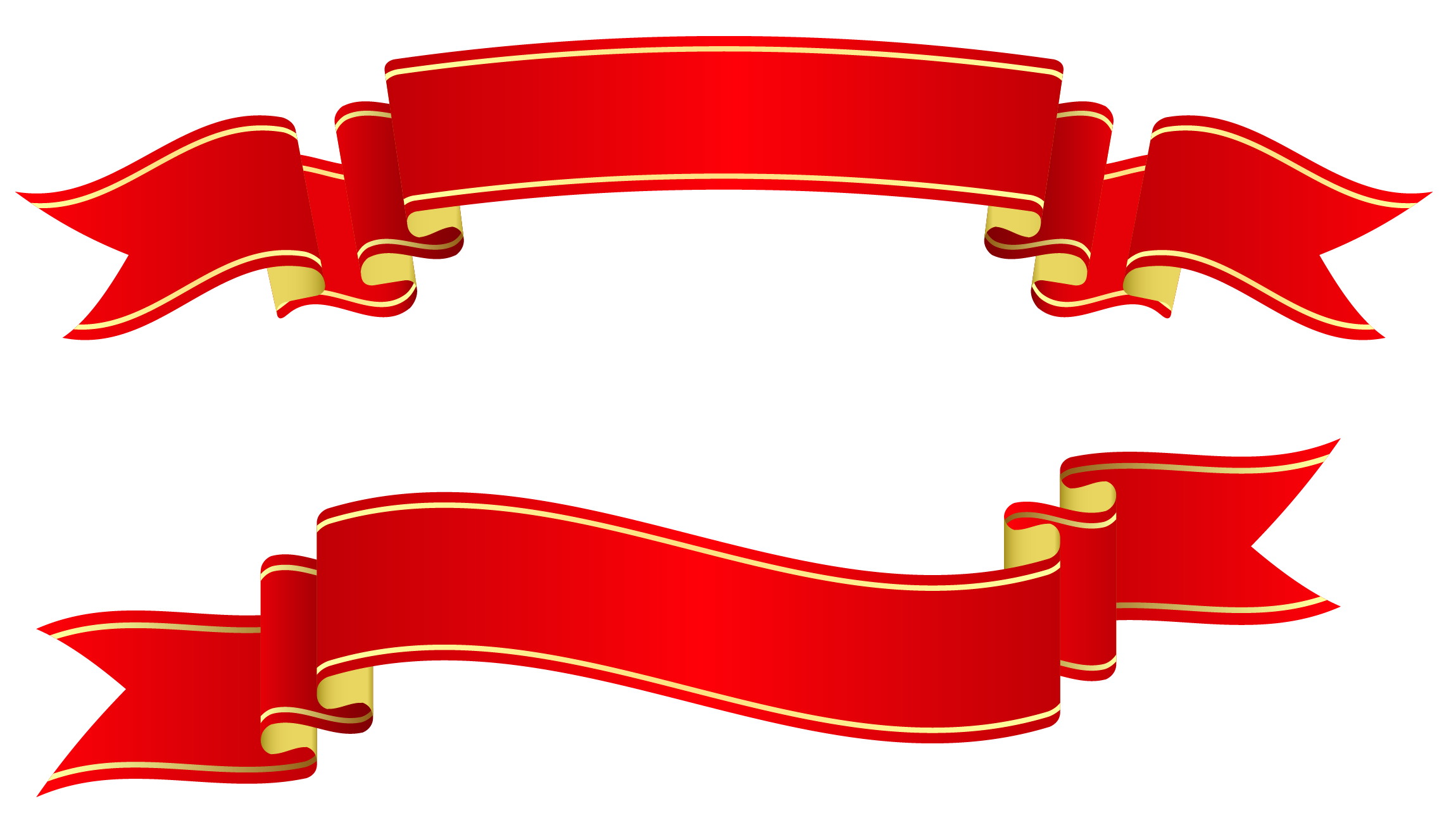 Banner Ribbon Png Red Banners Png Clipart image #809 - Ribbon PNG