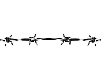 Barbed Wire #4 Circular Barb Fence Fencing Jail Western Ranch .SVG .EPS  Instant - Barbed Wire PNG