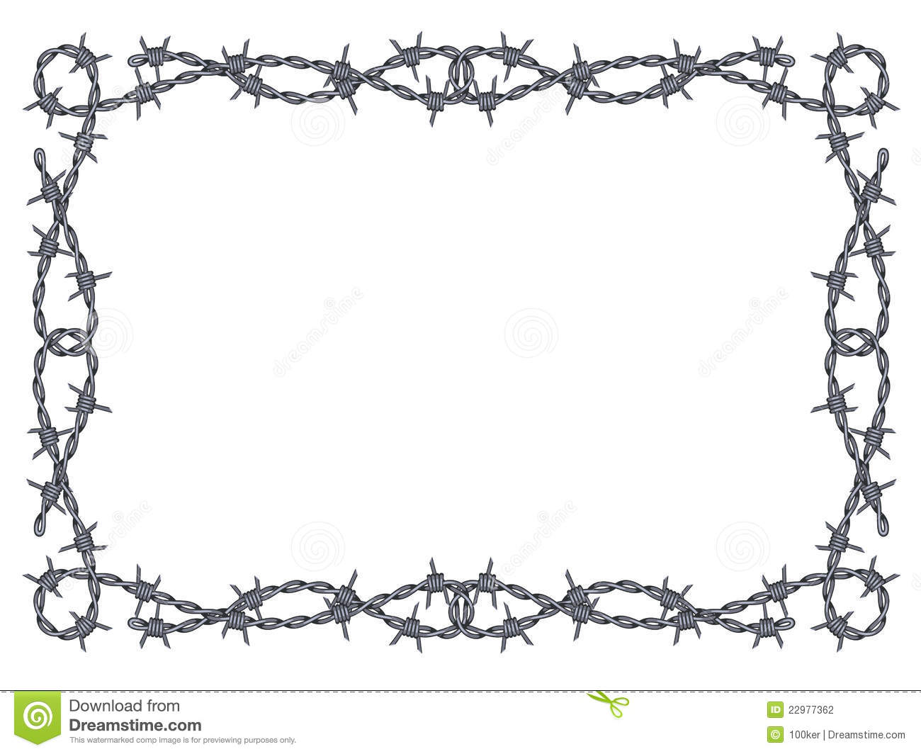 Barbed Wire PNG Border - 42071