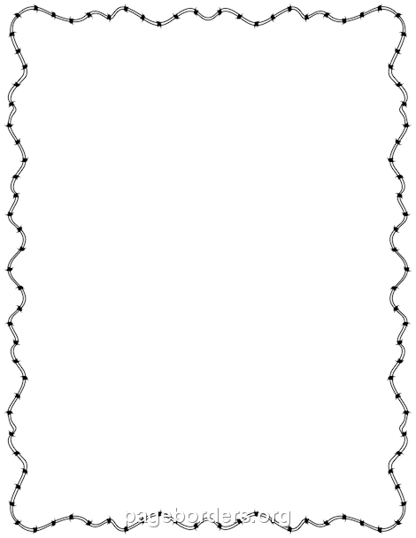 Barbed Wire PNG Border - 42069