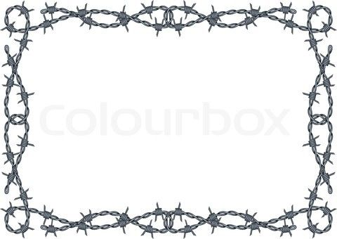 Barbed Wire PNG Border - 42073
