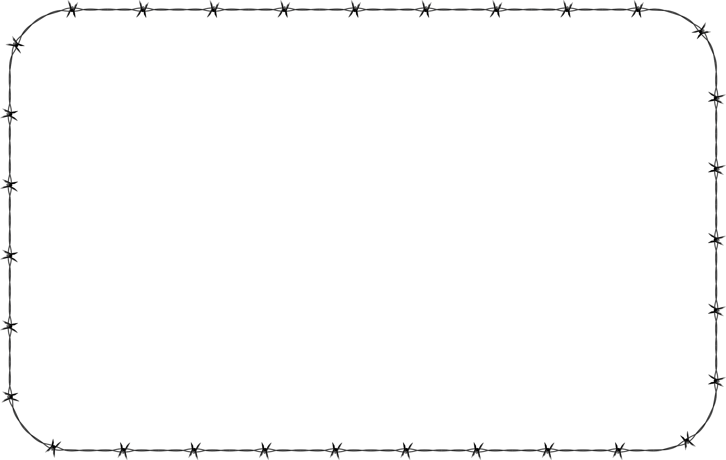 Barbed Wire PNG Border - 42070