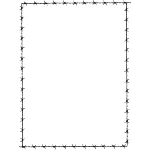 Barbed Wire PNG Border - 42076