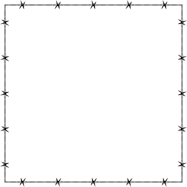 Barbed Wire PNG Border - 42064