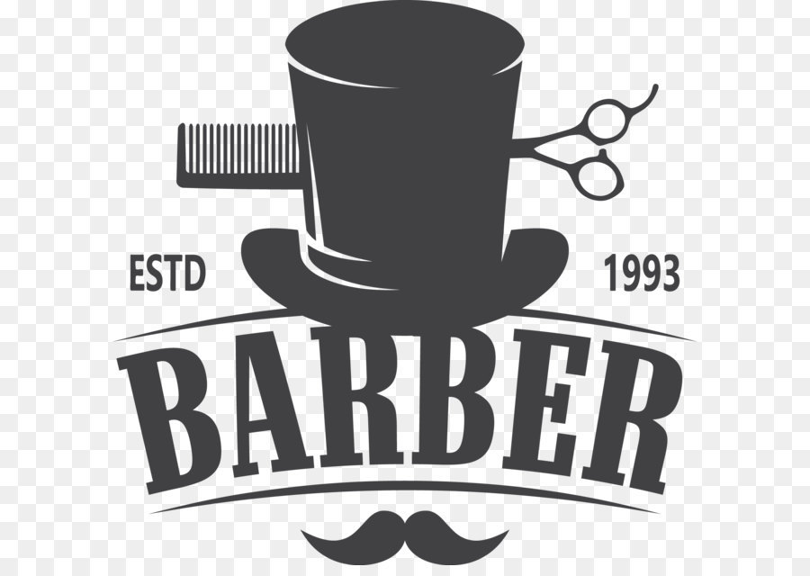 Barber Comb Hairdresser Hairstyle Logo - Vector barber shop logo - Barber PNG HD