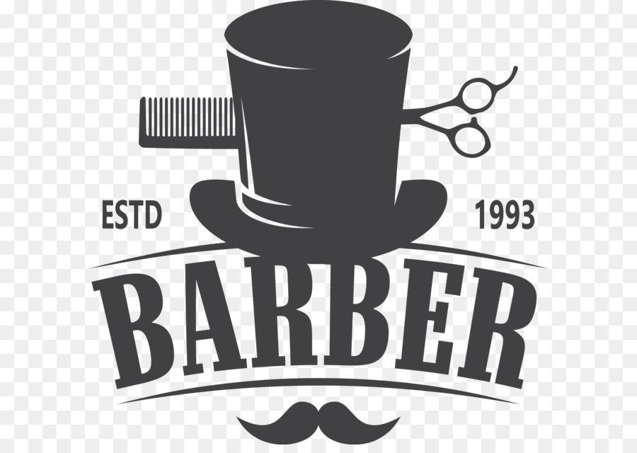 Barber Comb Hairdresser Hairstyle Logo - Vector Barber Shop Logo - Barber PNG HD