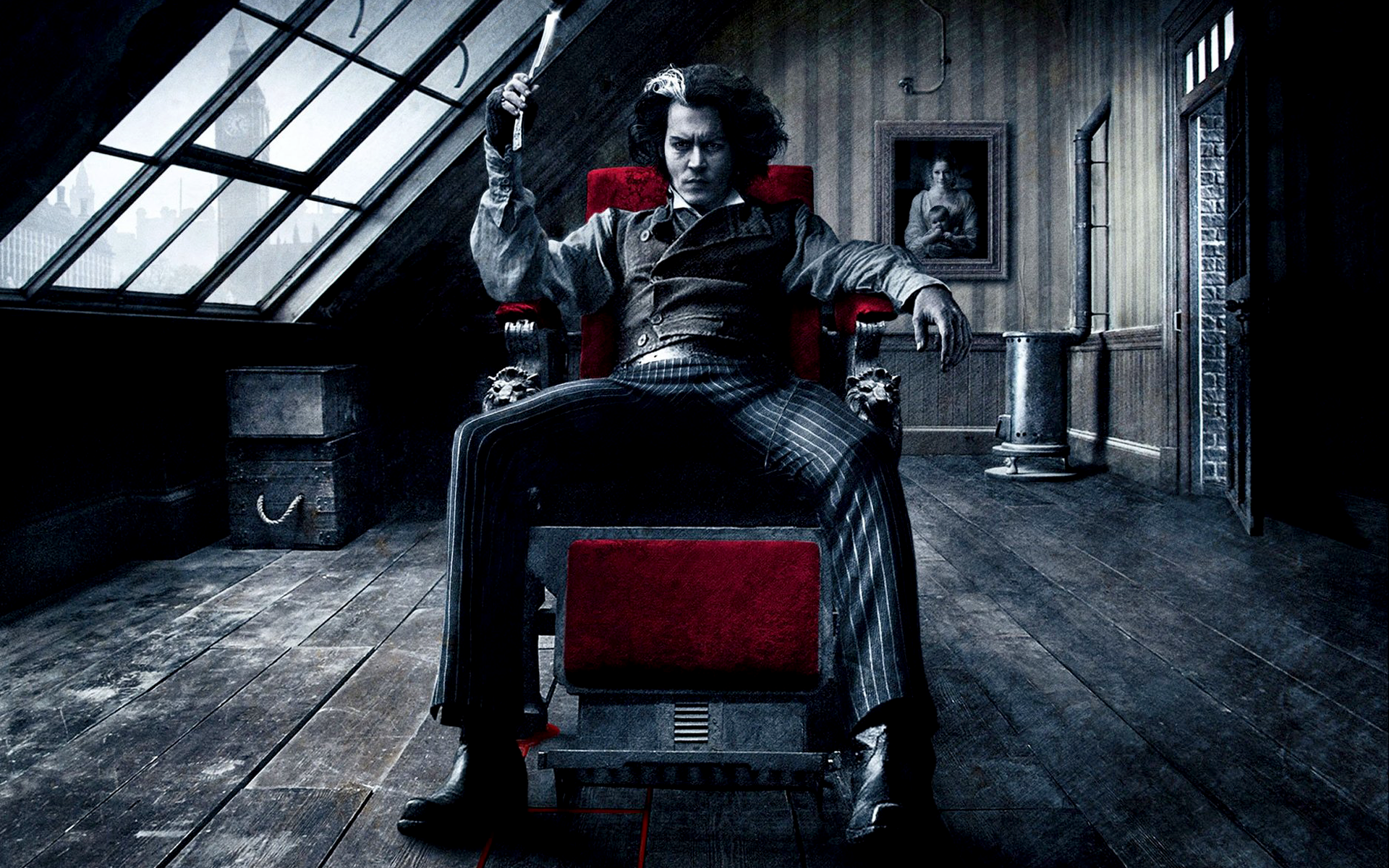 Film - Sweeney Todd: The Demon Barber of Fleet Street in Concert Johnny  Depp Duvarkağıdı - Barber PNG HD