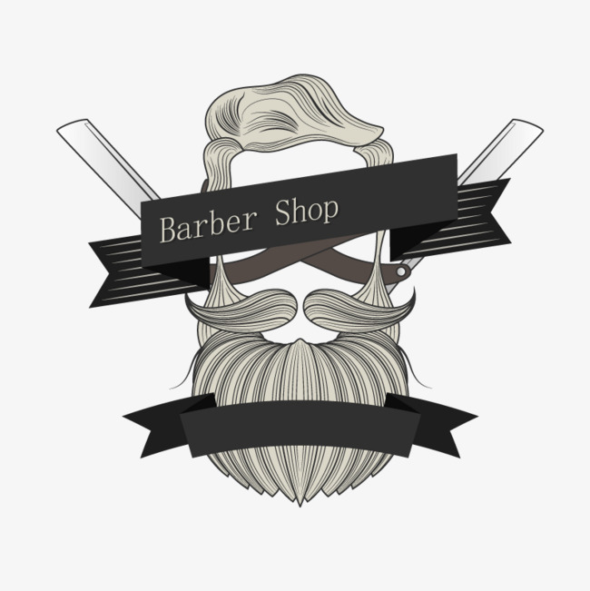 Vector bearded image, HD, Vector, Banner PNG and Vector - Barber PNG HD