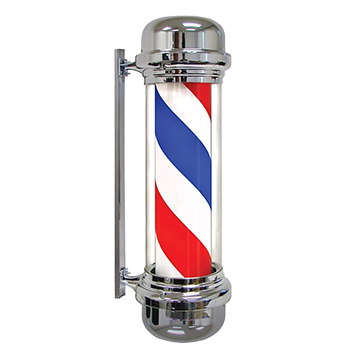 Revolving Electric Barber Pole - Morris Flamingo Barber Express - Barber Pole PNG HD
