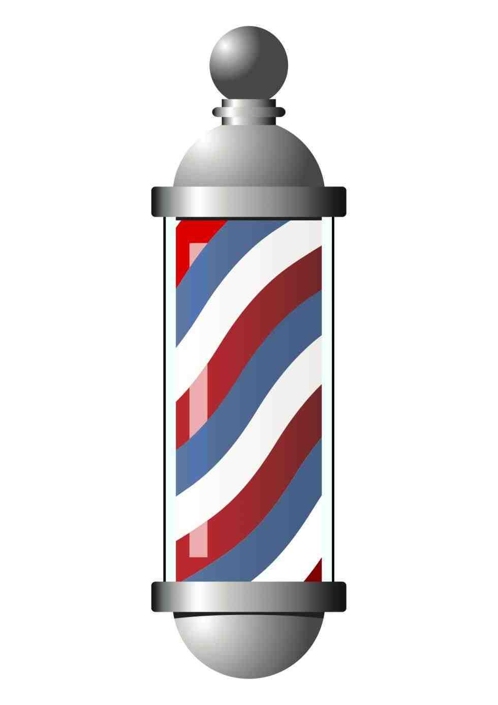 barber-Barber-Shop-Pole-Png-pole-free-download- - Barber Shop PNG