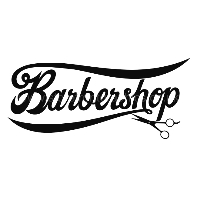 barbershop window sticker barbershop window lettering - Barber Shop PNG