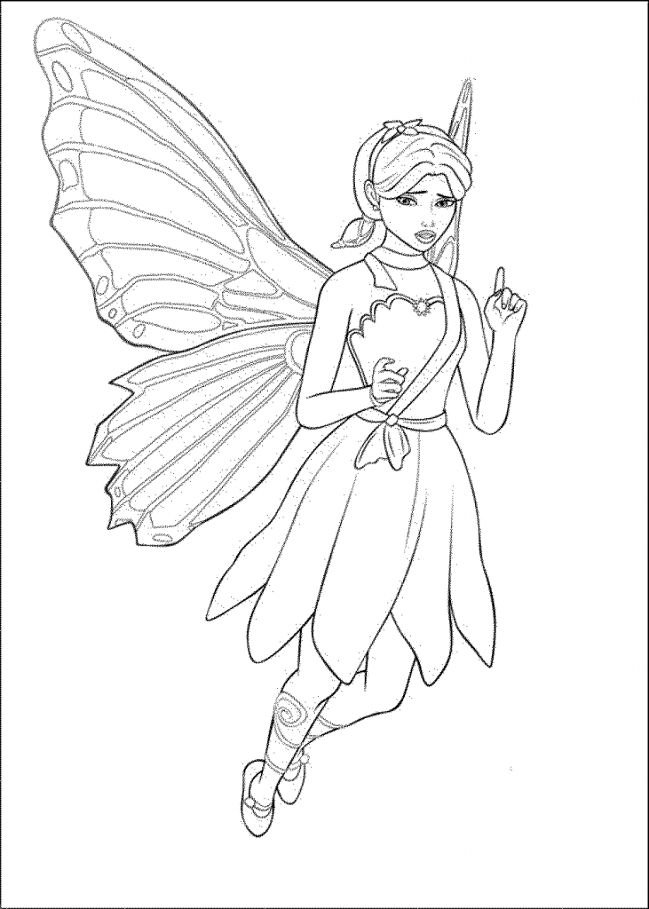 Barbie Doll Drawing Pictures Barbie Doll Coloring Pages For Kids Az  Coloring Pages - Barbie Doll PNG Black And White