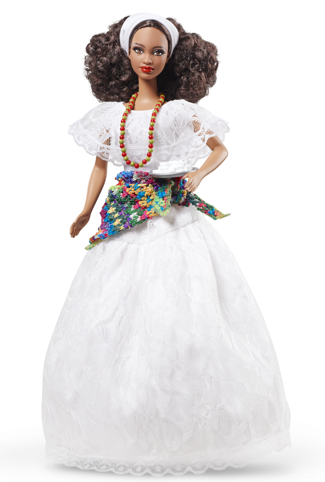 Brazil Barbie doll joins the party in a beautiful white lace festival - Barbie Doll PNG Black And White