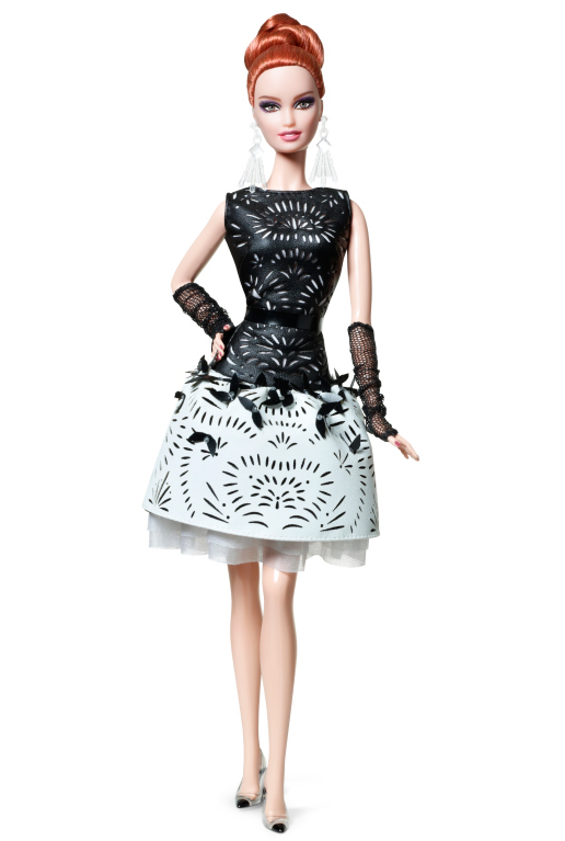 Laser-Leatherette Dress Barbie Doll - Barbie Doll PNG Black And White