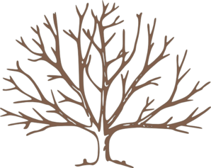 bare tree clip art | Brown Bare Tree clip art - vector clip art online, - Bare Apple Tree PNG
