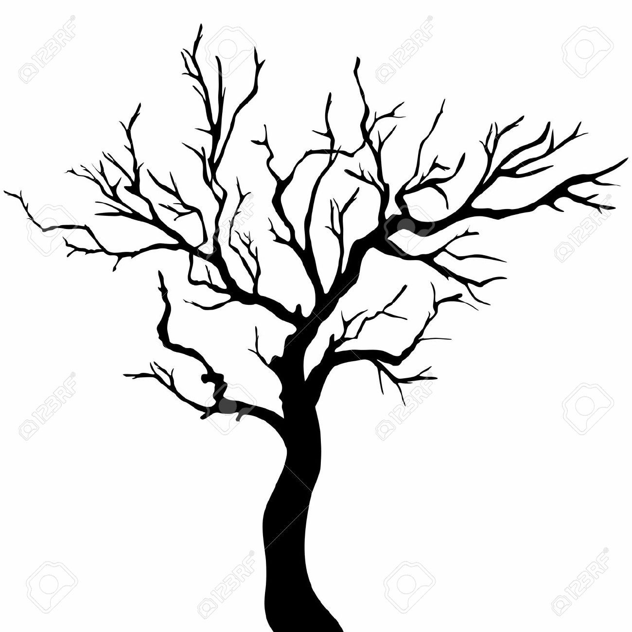 Tree silhouettes - Bare Apple Tree PNG