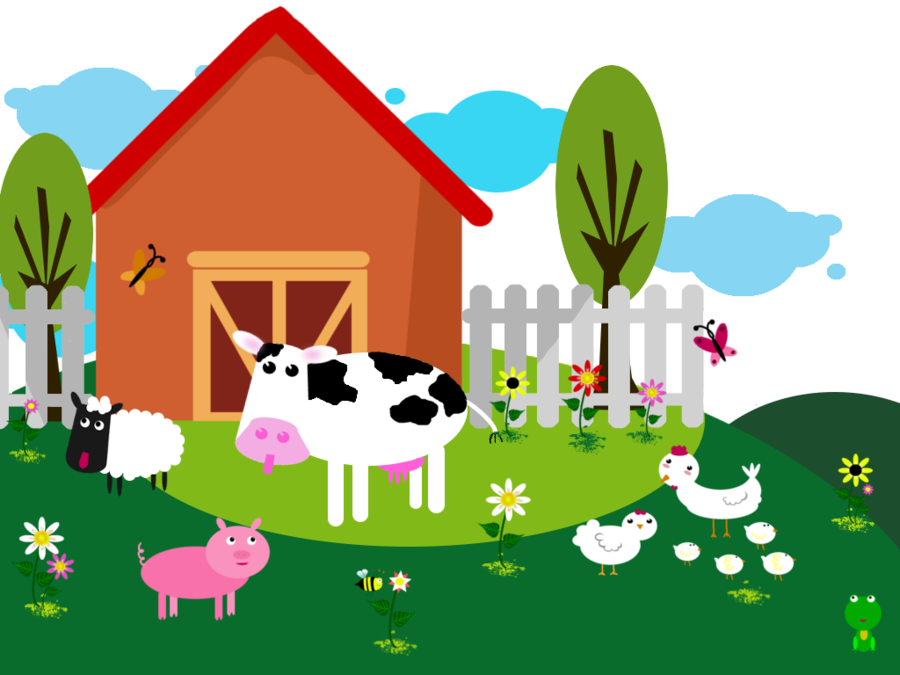 Vector Farm Background by Viktoria-Lyn PlusPng.com  - Barn Background PNG