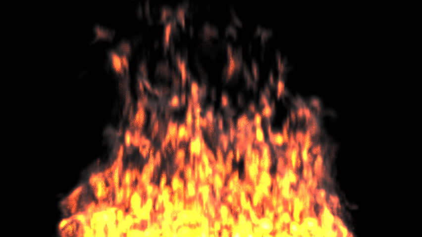 Animated realistic fire on black background 3. Wide fire base. - HD stock  video - Base HD PNG