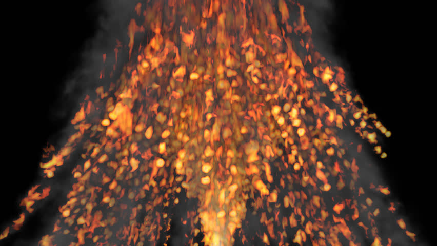 Animated Volcano Of Bursting - Erupting Fire With Constant Small Explosions  With Raging Flames. Transparent - Base HD PNG