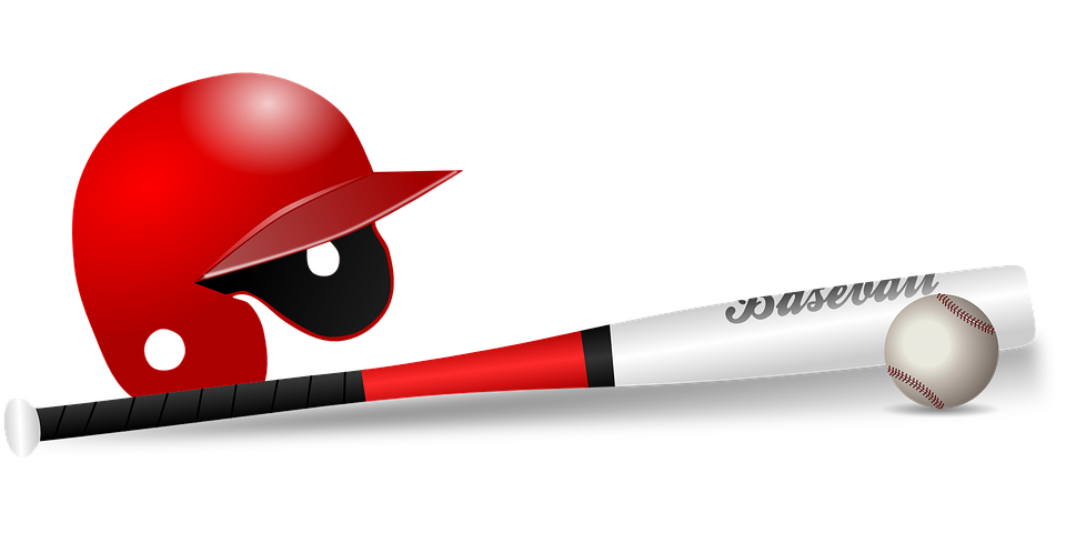 Baseball, Baseball Bat, Ball, Bat, Club, Game, Helmet - Baseball Bat Hitting Ball PNG