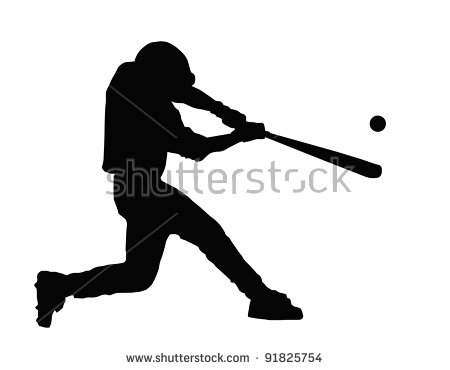 Baseball Batter Hitting Ball with Bat for Home Run - Baseball Bat Hitting Ball PNG