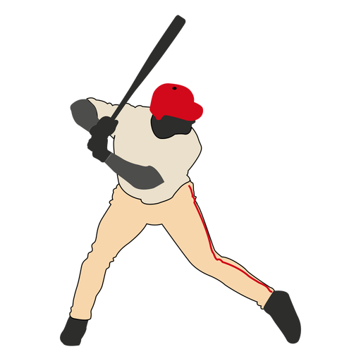 Baseball batting silhouette 2 - Baseball Bat Hitting Ball PNG