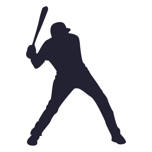 Baseball player silhouette - Baseball Bat Hitting Ball PNG