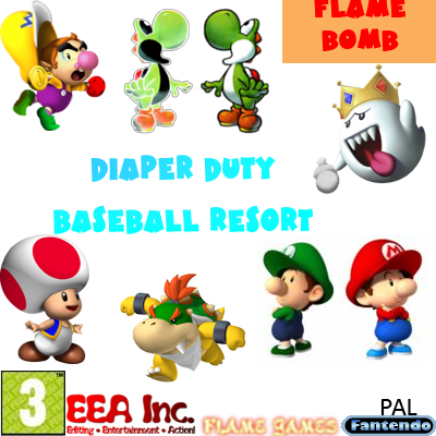 File:Diaper Duty Baseball Resort Flame Bomb BETA PAL.png - Baseball Bomb PNG