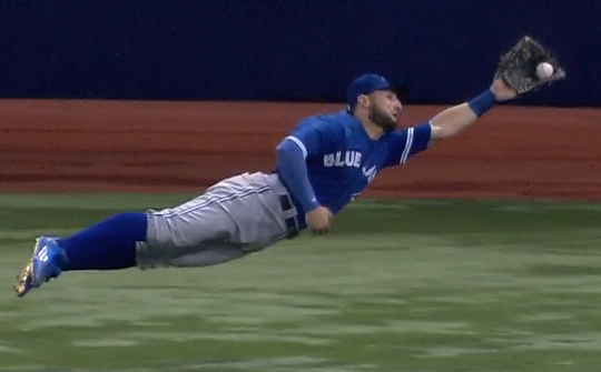 Blue Jays center fielder Kevi